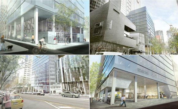 570 Bourke St expansion. Image courtesy PDS Group.