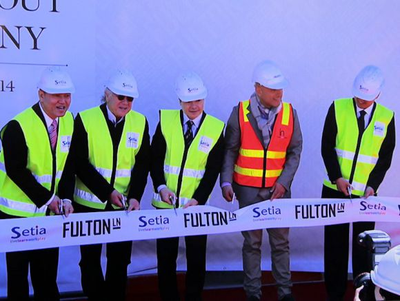 Fulton Lane on show during its topping out ceremony
