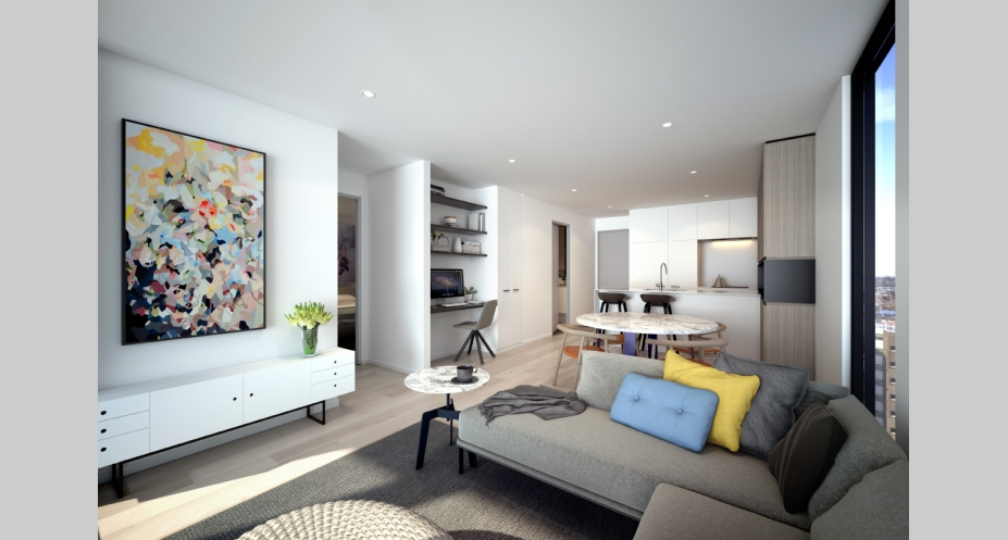 ONLY Flemington apartment interior - image: indicative only, © Caydon
