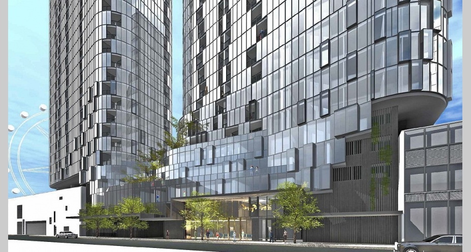 26-38 Pearl River Road, Docklands. Image courtesy DKO Architecture