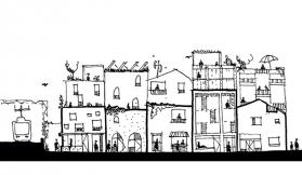 An early glimpse of Nightingale Village's first buildings
